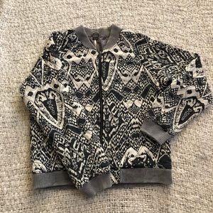 Patterned Free People Zip Jacket